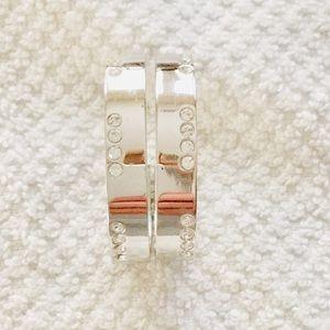 Swarovski Silver-tone Crystal Embellished Earrings